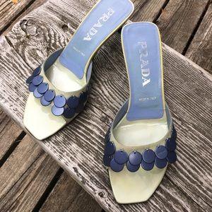 Vintage Prada Kitten heel Patent Slides US sz 6